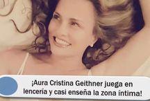 ¡Aura Cristina Geithner juega en lencería y casi enseña la zona íntima!