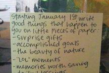 New Year Ideas / Keep it simple...