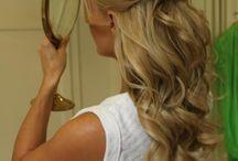 Brides hair