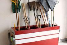 Basement storage & garage