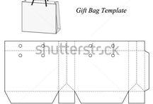 shopping bag templete