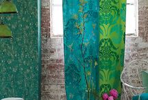 Beautiful curtains and fabrics / Curtains wich I want to hang and fabrics to inspire me