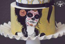 Dia de los Muertos Cakes / intricate Dia de los Muertos cakes from the Cake Central galleries. #dia-de-los-muertos #dia-de-los-muertos #day-of-the-dead #sugar-skulls #cakecentral