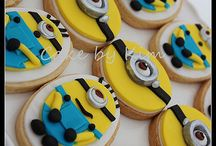 minion cookies and cakes