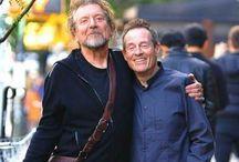 Robert Plant and John Paul Jones