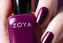 Zoya Tara / The Zoya Tara is a one-coat cream shade with the beautiful color purple plum with a balanced tone between purple and red.