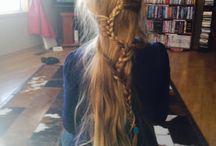 Hair braiding. / Hair braiding