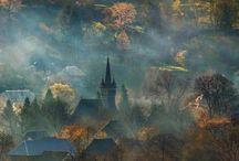 Mist across the Transylvanian countryside in #Romania #HeathrowGatwickCars.com