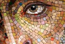 Mosaic faces/ people