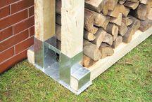 Brennholz Lagerung
