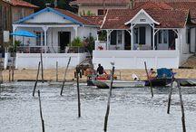 des maisons au bords de l'eau