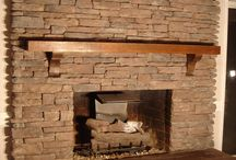 fireplace / by Misty Bacon Obermeier