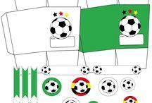Fussballparty / Party-Motto, Party-Ideen, Kindergeburtstag, Tisch-Deko, Einladungen, DIY's, Rezepte, Kuchen, Spieleideen