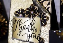 Black & Gold / Create elegant handmade cards and other paper crafting projects with Crafter's Companion's Sara Davies' Signature Collection - Black and Gold