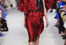 Trend: Ole - April / The Spanish Flamenco flair is vibrant with strong movements with soft touches. It is depicted with bold colors of red and black with the feminine seduction of lace and ruffles. A fashion style that is definitely empowering.