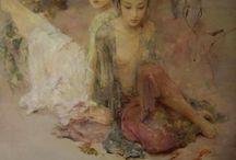 Hu Jun Di / Chinese Mandarin artist (1962-