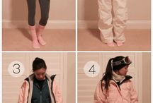 Snowboarding outfits