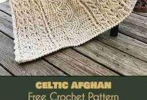 Celtic afgán crochet