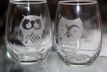 Etched Glass / Creating gifts using glass etching cream