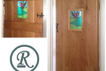 Architectural Glass (windows, doors panels, modesty screens) / This board shows a selection of my work 'insitu' as windows, door panels and screens. Get in touch if you like my work and would like to commission your own panel. mandy@radiancestainedglass.co.uk