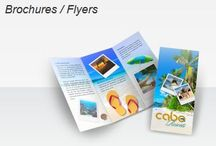Brochures / Flyers / Brochures are a popular format for sharing detailed information in a highly presentable way. They are usually colorful and folded, so they are an efficient format for providing information about your company, its products, and services. http://www.blackpineprinting.com/products/brochures