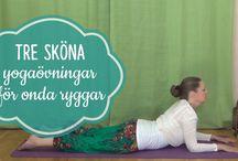 Yoga för rygg, axlar och nacke