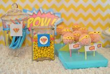 Vintage superhero party for a girl