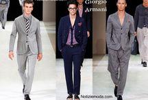 Giorgio Armani uomo / Giorgio Armani collezione e catalogo primavera estate e autunno inverno abiti abbigliamento accessori scarpe borse sfilata uomo.