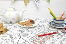 Colouring in Tablecloths / We design many themed tablecloths, something for every theme for children and adults alike.