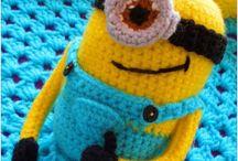 zapatillas pantuflas a crochet modelo Minion para nenes