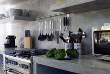 Industrial Kitchen Design / Cool and contemporary kitchen interiors inspired by the latest industrial style .