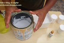 tinta, como aumentar, para pintar paredes, com cola etc.