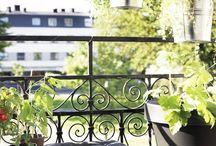 Balcony, terrace, pergola