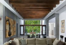 Wood interior space