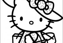 Hello kitty coloring pages / This page has free hello kitty coloring pages for kids,parents and teachers.