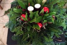 Kerststukken / Eigen gemaakte kerststukken
