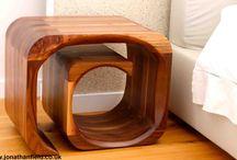 Bespoke wood bedside tabel