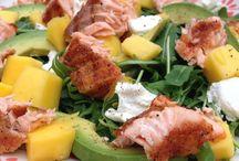Lunch / Zalm en fruit