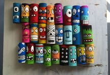 kids art / paper roll art