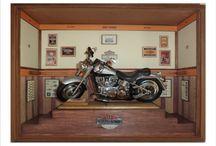 Quadro Harley Davidson Fat Boy GREY