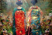 芸者と着物