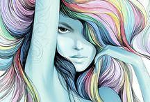 Soft colour painting