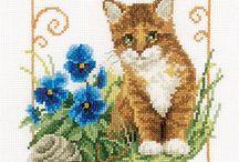 Cross Stitch Kitties