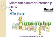 Microsoft Summer Internship 2016 / If you are looking for Microsoft Internship 2016 then MTA India provides summer internship program for graduate and master degree students.