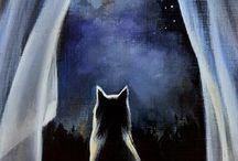 Cat & Moon