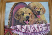 kutyusok barna kosárban