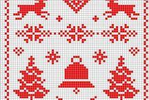 Kerst kruissteekpatroontjes