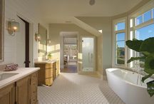 Bathroom Inspirations / These bathrooms are places of luxury and decadence. Take a peek inside our custom homes' bathrooms and powder rooms.