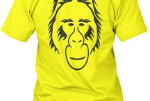 Crew Neck T-shirts / Vagabond Ape Crew Neck T-Shirts Vagabond: Someone who lives a carefree, roaming life Ape: Man