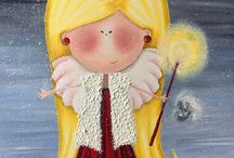 Karina Veretennykova / oil paiting by Karina Veretennykova, Galeria aniołów